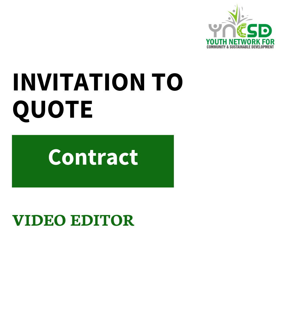 Request for Quotation – Video Editing Services