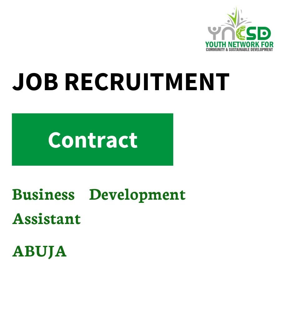 Vacancy – Business Development Assistant