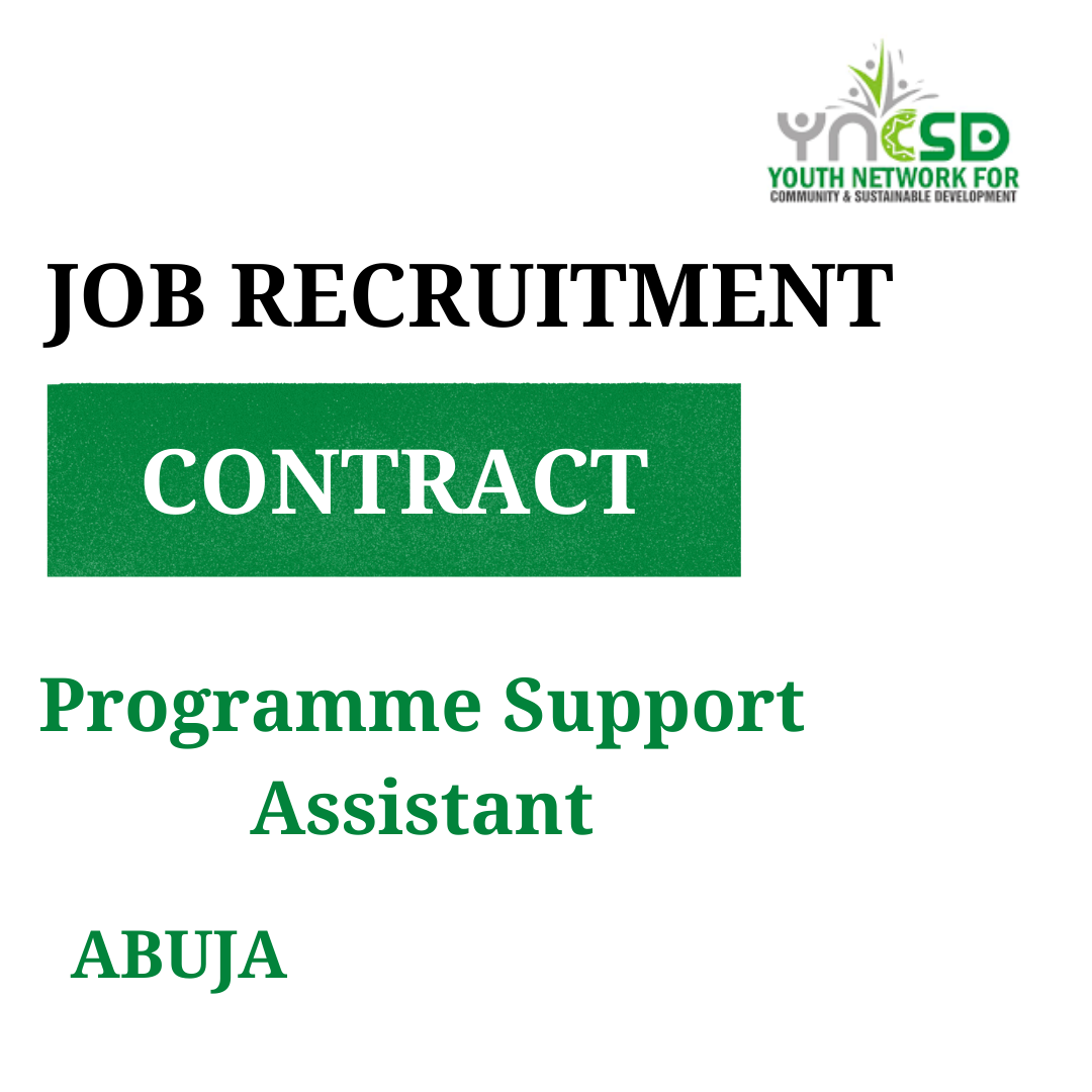 Vacancy – Programme Support Assistant
