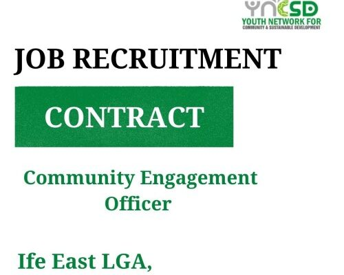 Vacancy- Community Engagement Officer, Osun