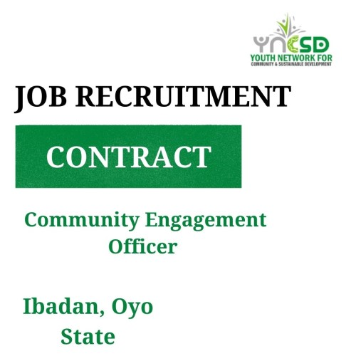 Vacancy – Community Engagement Officer, Oyo State